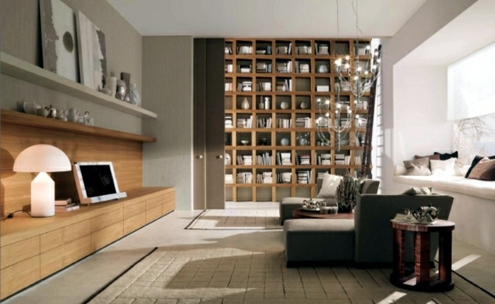 interessantes wohnzimmer beige tolle akzentwand moderne mbel - Modernes Wohnzimmer Beige