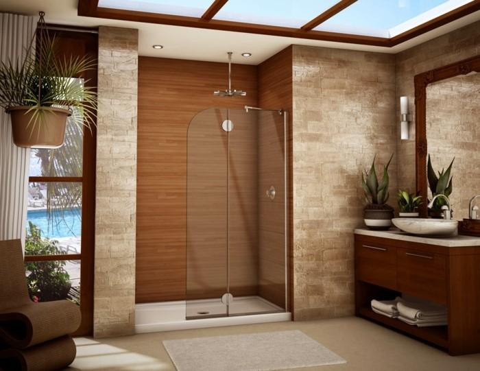 Kleines Badezimmer Mit Sehr Schöner Duschkabine Modernes Design