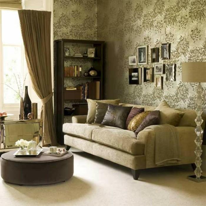 Beige Wandfarbe Modell : Schöne ideen für wohnzimmer in beige archzine