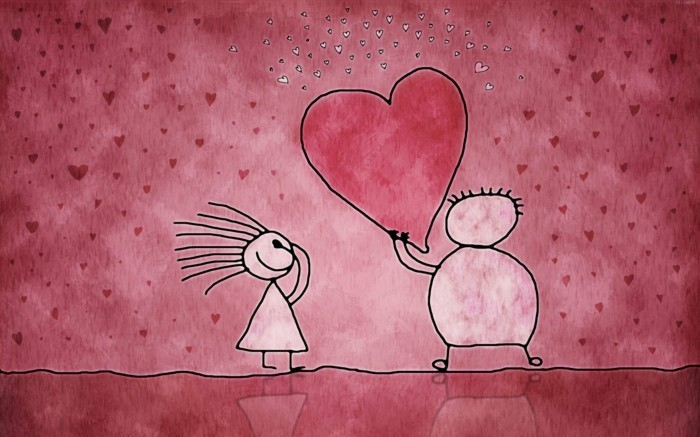 kostenlose-bilder-valentinstag-rosige-gestaltung-zwei-süße-animierte-figuren