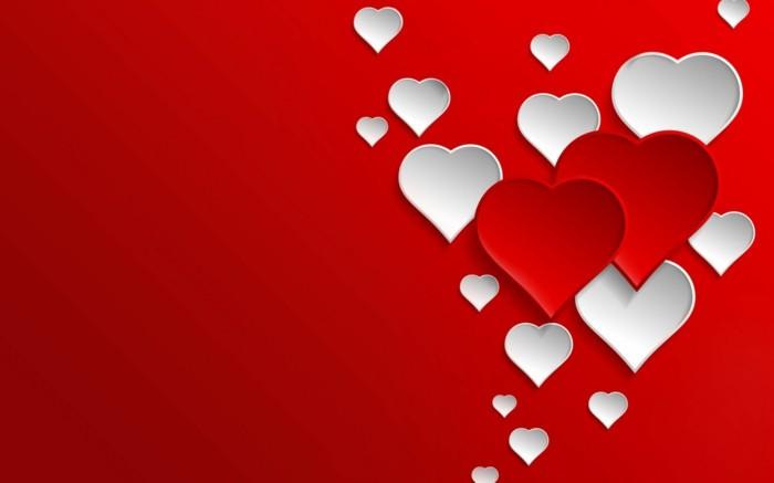 kostenlose-bilder-valentinstag-roter-hintergrund-schöne-herzen