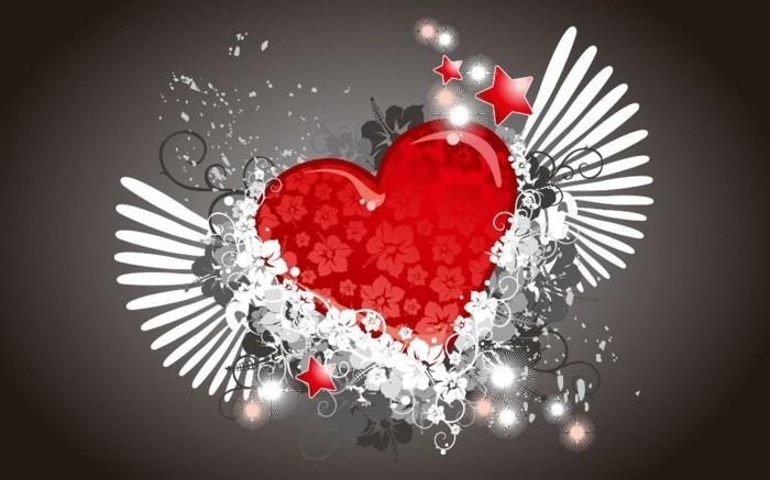 kostenlose-bilder-valentinstag-rotes-herz-mit-weißen-flügeln
