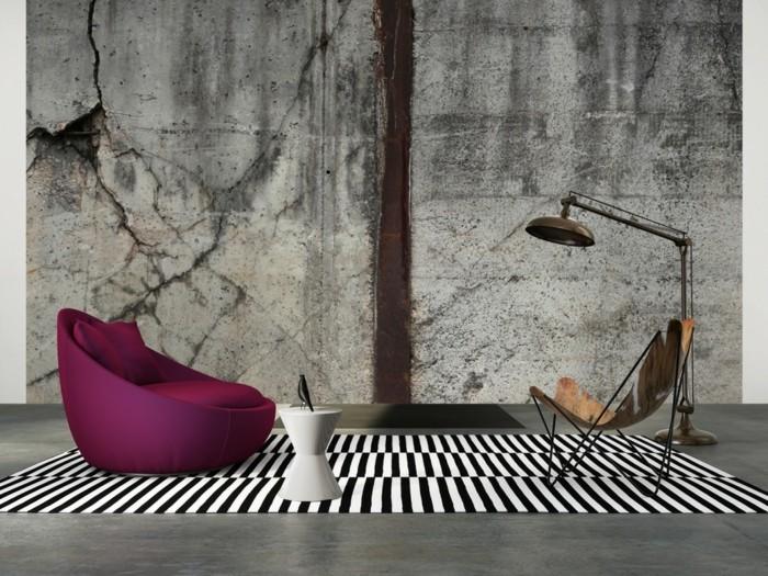 Moderne tapete grau  3D Tapete für eine tolle Wohnung! - Archzine.net