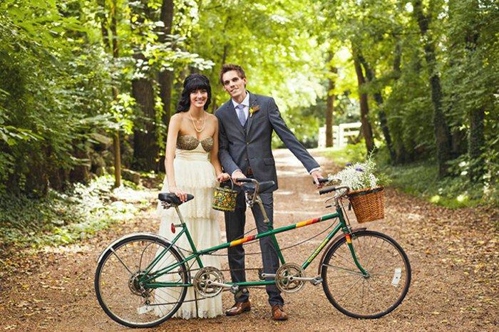 kreative-Idee-für-Hochzeit-retro-Fahrrad-für-zwei