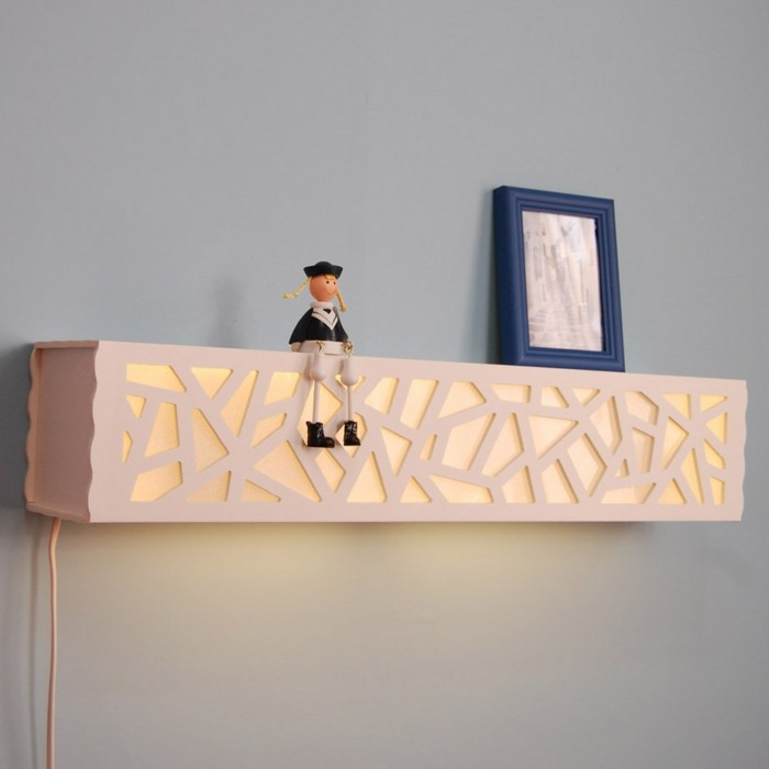 Superb Schlafzimmer Lampe Wand #12: Kreative-gestaltung-lampe-an-der-wand-im-schlafzimmer
