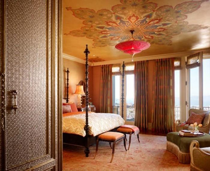 kreative-gestaltung-wunderschönes-schlafzimmer-mit-dekoleuchten