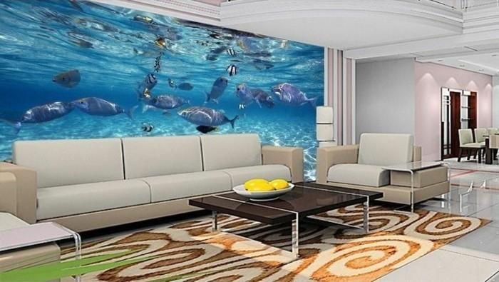 kreative-wandtapeten-im-weißen-schicken-wohnzimmer