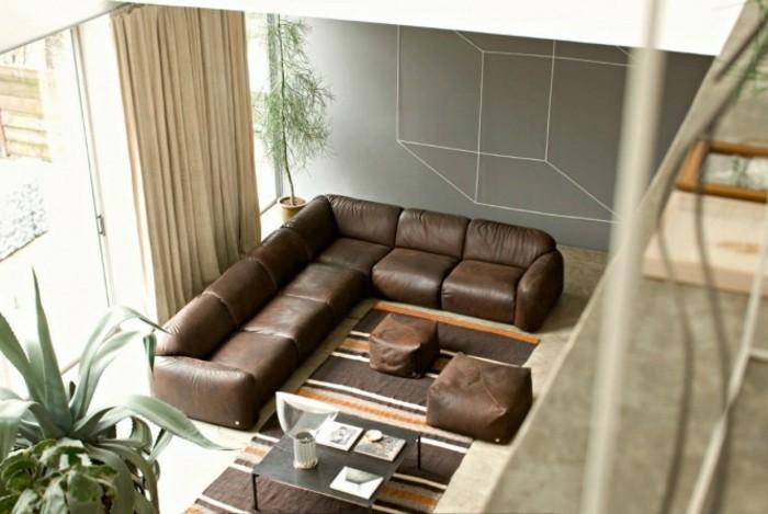 115 sch ne ideen f r wohnzimmer in beige for Braunes ecksofa