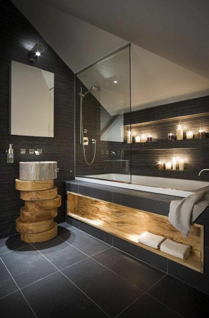 Dusche Glaswand Mit Bild : interessante gestaltung von badezimmer – mit moderner duschkabine