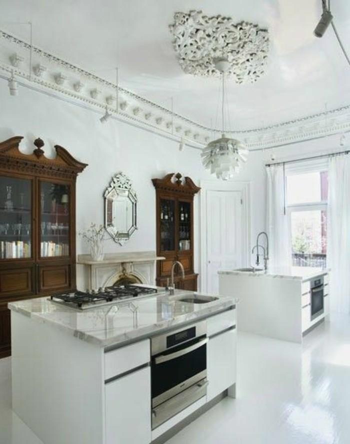 marmor-platte-klassische-küchen-gestaltung