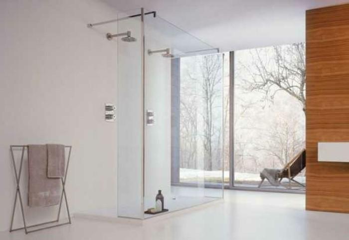 minimalistisches design von badezimmer - kreative duschkabine