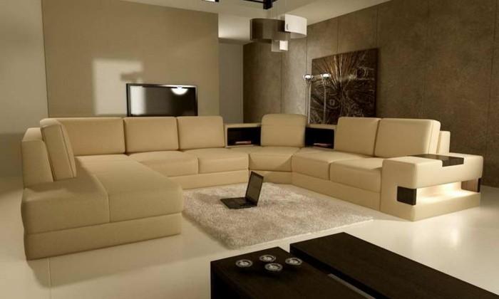 moderne-ideen-fürs-wohnzimmer-farbe-cappuccino-und-braun