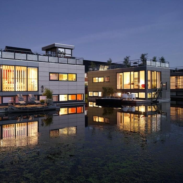 floating homes f r ein besonderes urlaubsgef hl. Black Bedroom Furniture Sets. Home Design Ideas