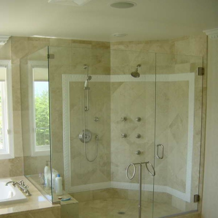 Walk In Dusche Vorm Fenster : Walk In Dusche Vorm Fenster : modernes badezimmer walk in dusche aus