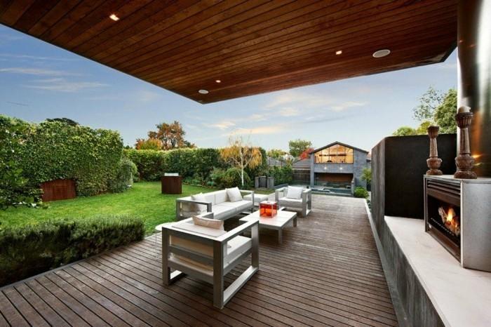 Idee kamin terrasse for Idee terrasse design