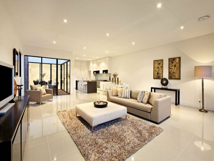 modernes-interieur-deckenleuchten-beige-wandfarbe-fürs-wohnzimmer