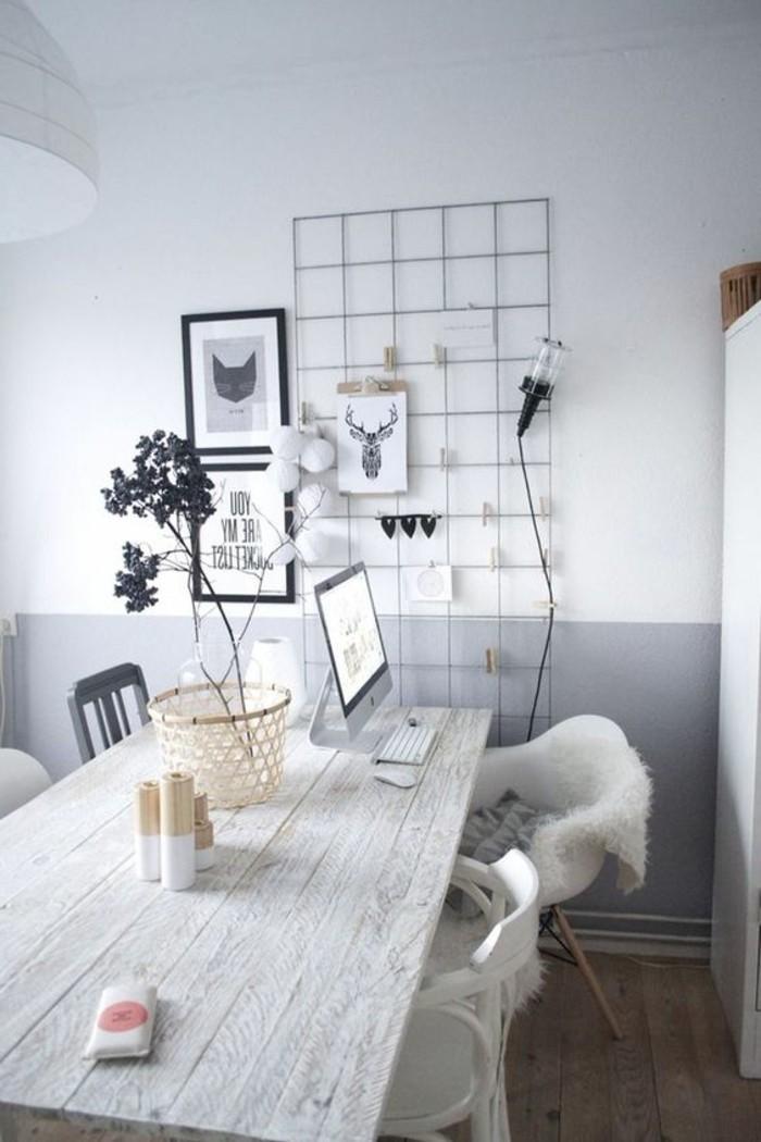 modernes-schwarz-weißes-Interieur-Designer-Stühle