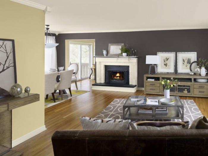 wohnzimmer beige rot:toller kamin und moderne möbel – beige elemente im wohnzimmer