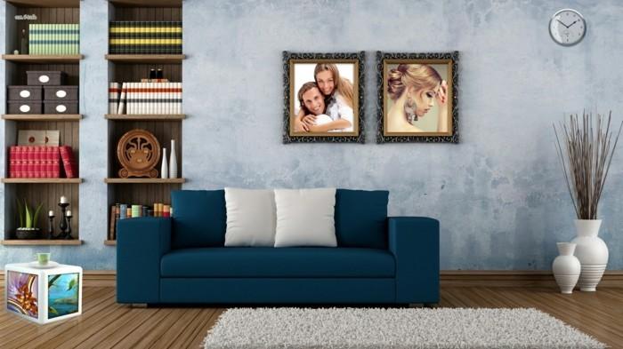 originelle-und-interessante-3d-fototapete-gemütliches-wohnzimmer