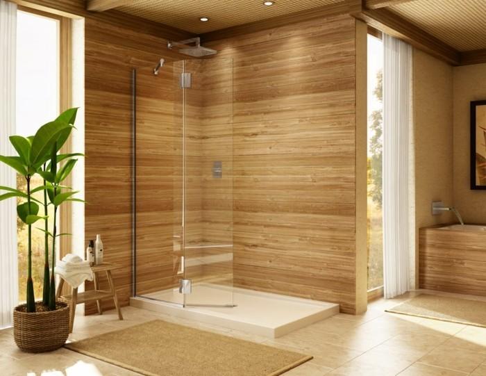 Dusche Freistehende Glaswand : Wir lieben es, wir einfach und simpel das Badezimmer ausgestattet ist