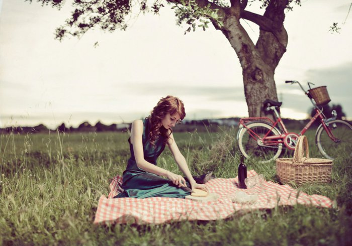 romantische-Idee-Picknick-mit-dem-Fahrrad