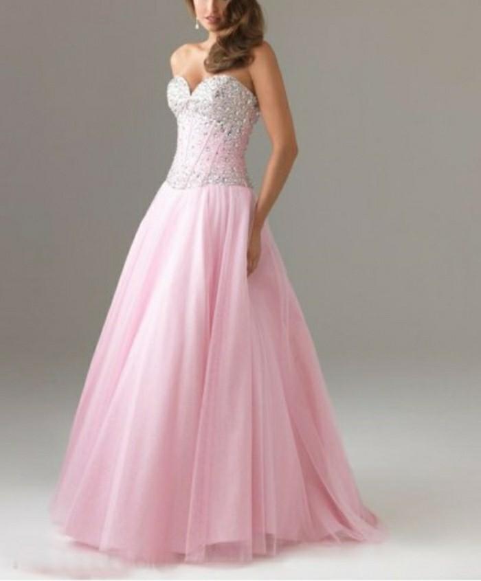 rosa-brautkleid-