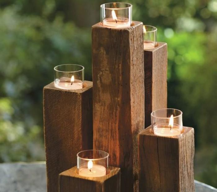 rustikale-DIY-Teelichthalter-aus-Holz