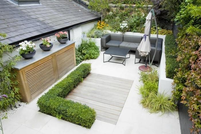 Attraktive Dekoration Grose Terrasse Gemutlich Gestalten #20: Schöne-gärten-gestalten-modernes-design Diese 140 Terrassengestaltung Ideen  Sind Echt Cool! | Terrasse ...