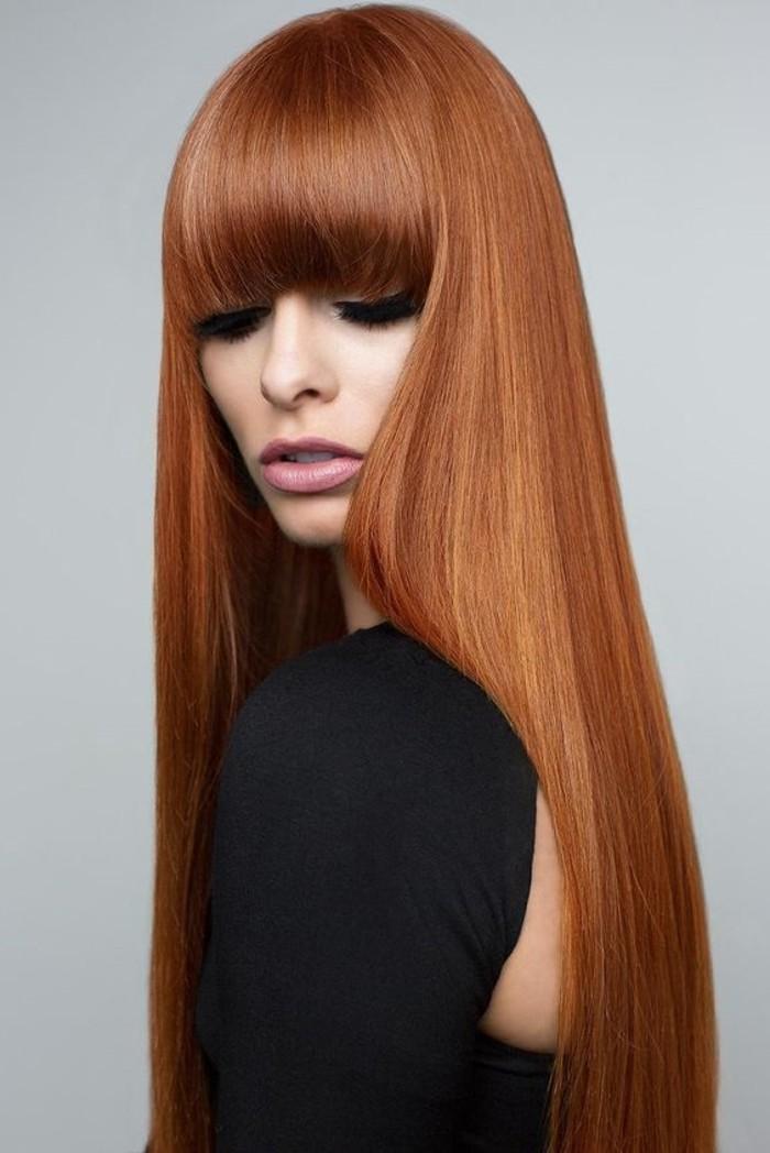 schöne-glänzende-glatte-Kupfer-Haare-Kupfer-Haarfarbe