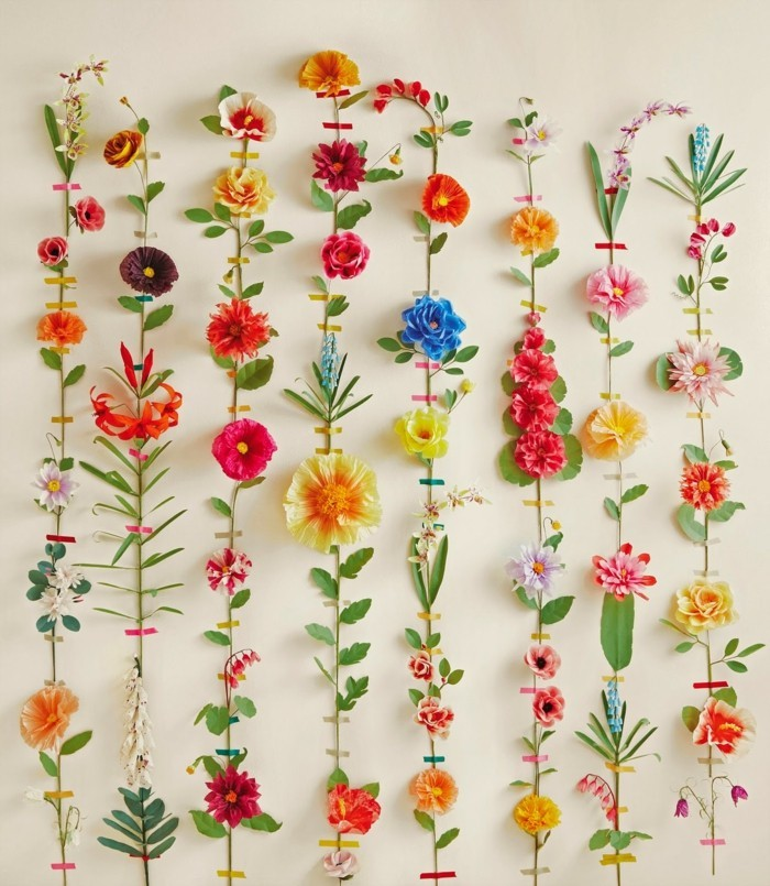 schöne-papierblumenblumen-wandgestaltung-diy