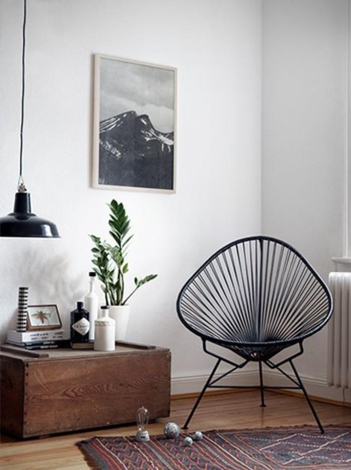 Schwarzer stuhl kombination von komfort und stil for Stuhl design buch
