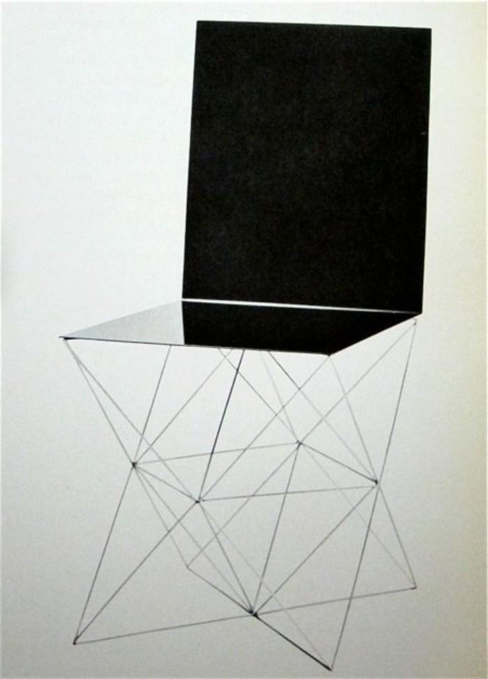 innovativer-Stuhl-mit-ungewöhnlichem-Design-und-glänzender-Oberfläche
