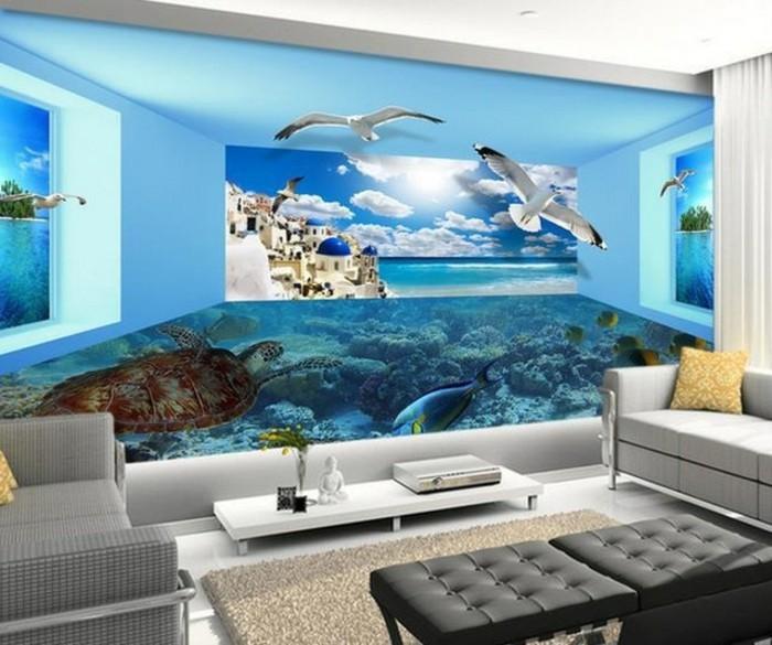 fototapete in 3d optik. Black Bedroom Furniture Sets. Home Design Ideas
