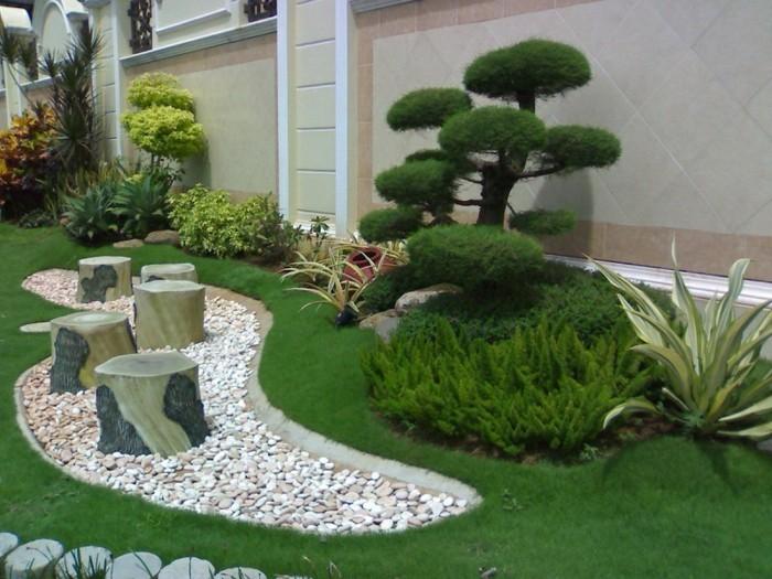 vorgarten anlegen ideen – greengrill, Hause und garten