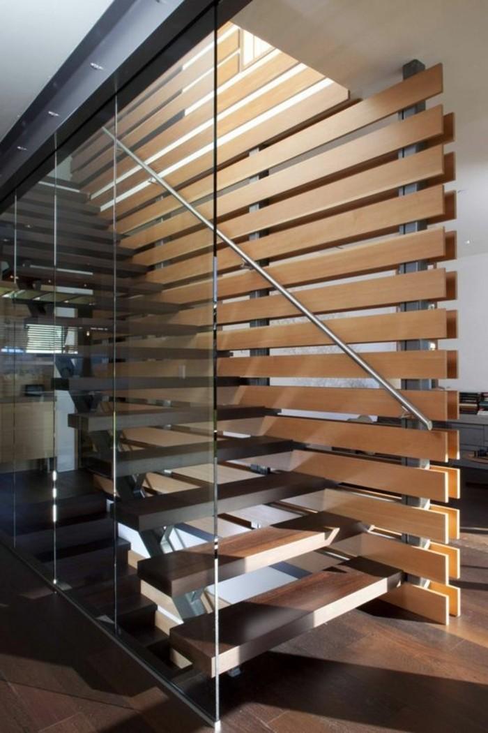 Treppe mit Glasgeländer für schickes Interieur - Archzine.net