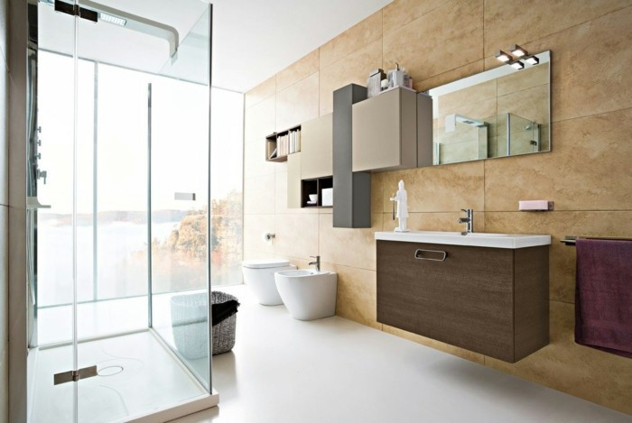 modernes bad mit dusche | badezimmer & wohnzimmer, Moderne deko