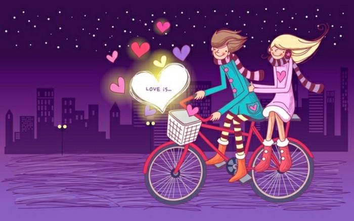 valentinstag-bilder-interessante-animation-lila-hintergrund