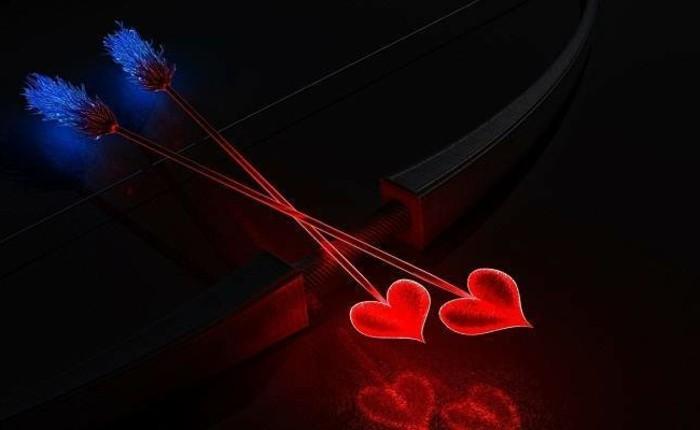 valentinstag-bilder-kreatives-modell-zwei-rote-herzen