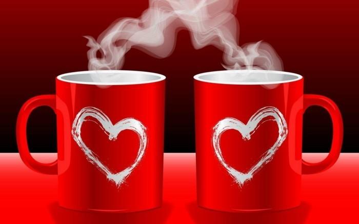 valentinstag-bilder-zwei-wunderschöne-rote-tassen-mit-herzen