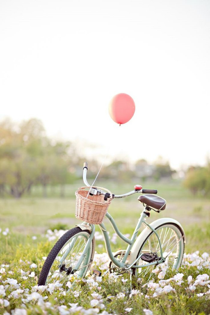 vintage-Fahrrad-in-Minze-Farbe