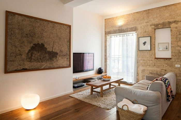 schöne wohnzimmer wände: einem gelben Unterton: das Wohnzimmer wirkt sehr warm und gemütlich