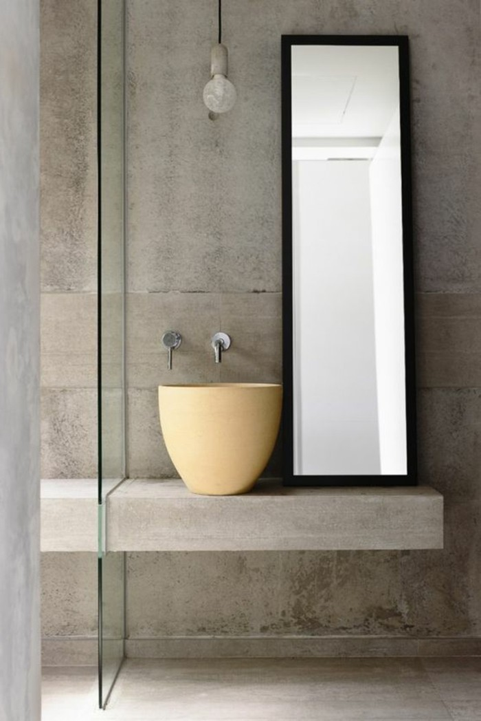 Waschtischplatte beton  Die Qual der Wahl: Waschtisch selber bauen oder kaufen? - Archzine.net