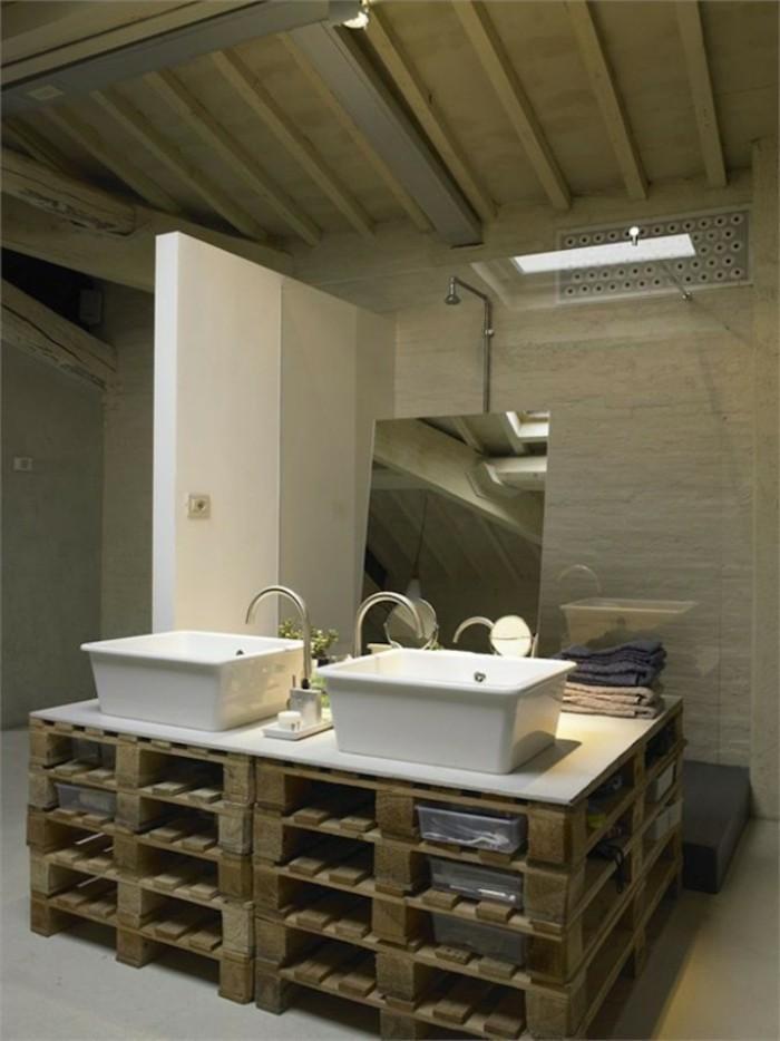 waschtischplatte aus holz rustikales modell badzeimmer - Bad Unterschrank Selber Bauen