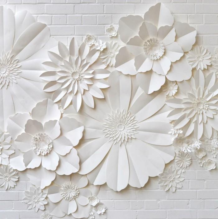 weiße-papierblumen-basteln-interessante-gestaltung