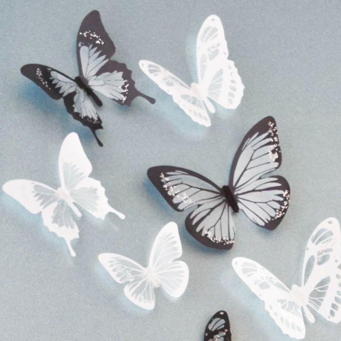 weiße-und-braune-schmetterlinge-selber-machen-interessante-diy-dekoration