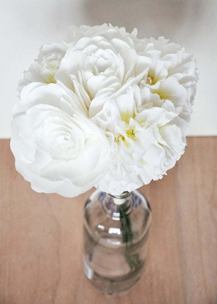 weißer-blumenstrauß-selber-basteln-tolle-vase