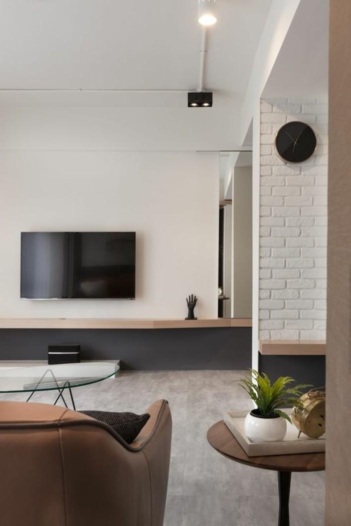 great wohnzimmer gestaltung der wand hinter dem fernseher. Black Bedroom Furniture Sets. Home Design Ideas