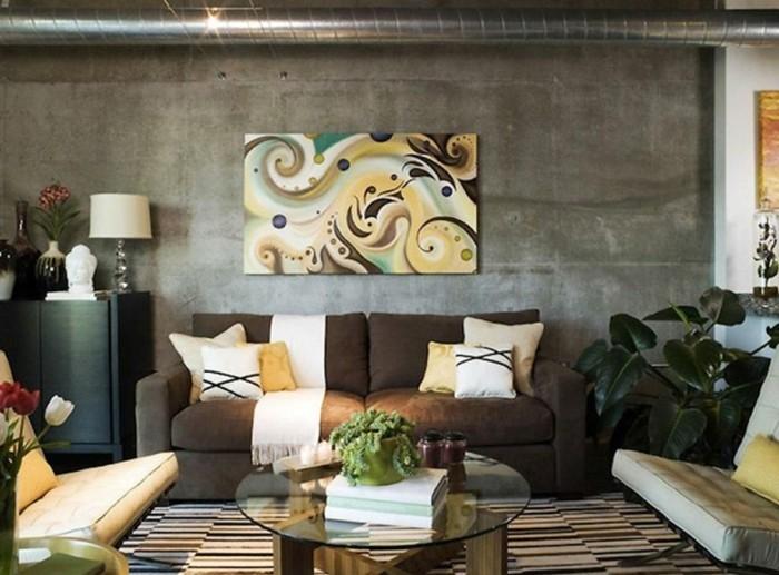 wohnzimmer-mit-beige-elementen-gestalten-brauntöne