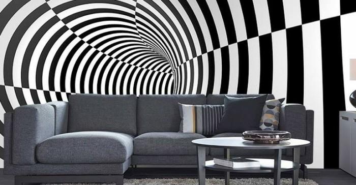 wunderschöne-3d-tapete-in-weiß-und-schwarz