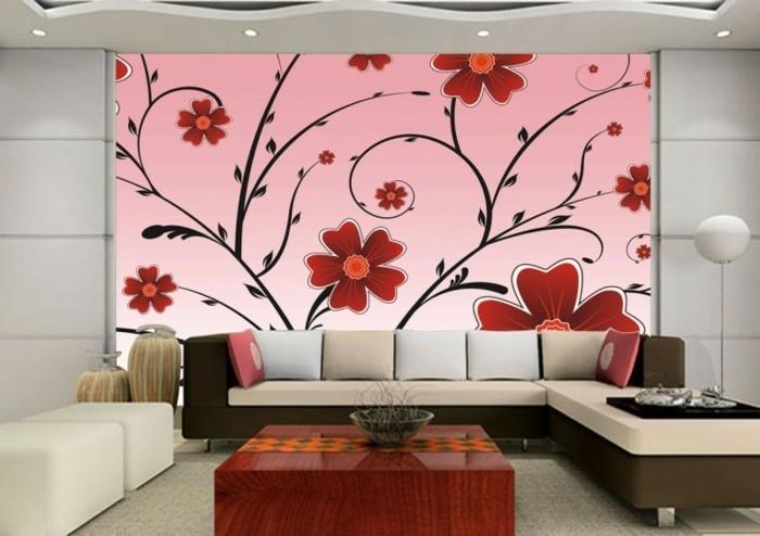 wunderschöne-fototapete-blumen-motive-im-wohnzimmer